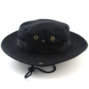 Bucket Hat Safari Boonie Hat Men's Panama Fishing Cotton Outdoor Unisex Women Summer Hunting Bob Sun Protection Fisherman Hats
