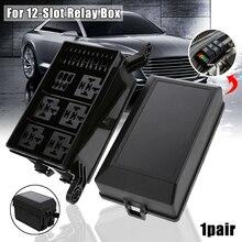 Automotive 12-Slot Relais Auto Sicherung Box Relais 6-weg Relais Schaltung Sockel mit Buchse Terminal Auto Automotive auto Sicherung Relais Halter