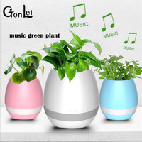 GonLeI Action Figures LED Bluetooth Music Vase Speaker Touch Sensing Flower Pot USB Charge Waterproof Altavoces