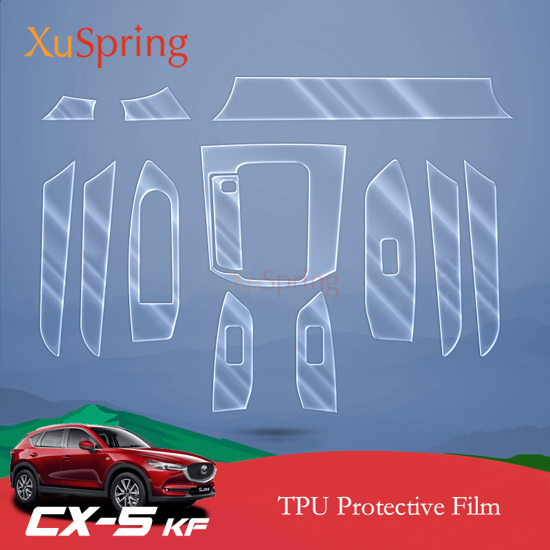 Car Interior Protective TPU Film Coverage Sticker Bright Repair Membrane Styling For Mazda CX 5 CX5