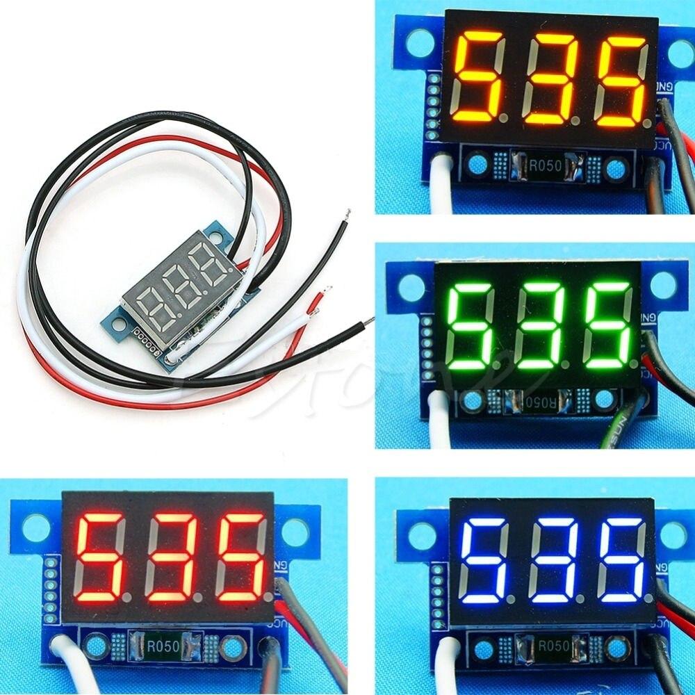 Rd 3 Color Red Blue Green Led 056 Digital Ammeter Dc 0 100a 4 Dual Voltmeter Amp Power Meter 090v Shunt 1pc Mini 999ma 30v Panel Ampere