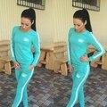 Coroa de Impressão Mulher Treino Definir Sudaderas Mujer 2017 Algodão Suit Sporting Womens Moletons Hoodies Femme 2 pcs Conjuntos