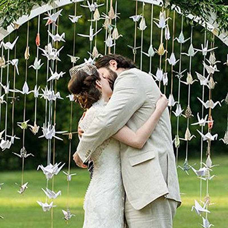 10pcs Hanging Paper Garland Wedding kid adult birthday bachelorette Party bridal baby shower Backdrop Anniversary Decoration