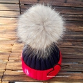 15cm real fur pom pom ball Winter Brand Colorful Snow Caps Wool Knitted Beanie Hat Fur Pom Poms For Women Men Skullies Cap