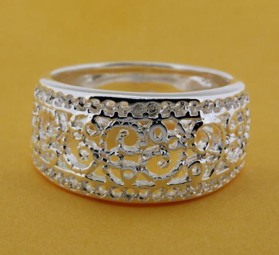 R211 Size:6,7,8,9 Silver plated ring, silver fashion jewelry ring fashion ring /