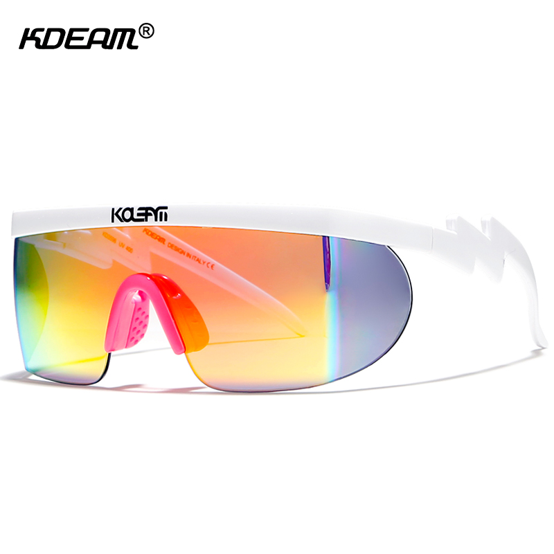 KDEAM Superstar Sherman's Brodie Sunglasses Men Oversized Shades Full Colors Sun Glasses One-piece Lens with Adjusting Nose Pad