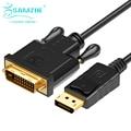 Samzhe displayport a dvi 24 + 1 cable convertidor 1080 p hd dp adpater macho a hdmi macho cable de 1.8 m para pc portátil proyector
