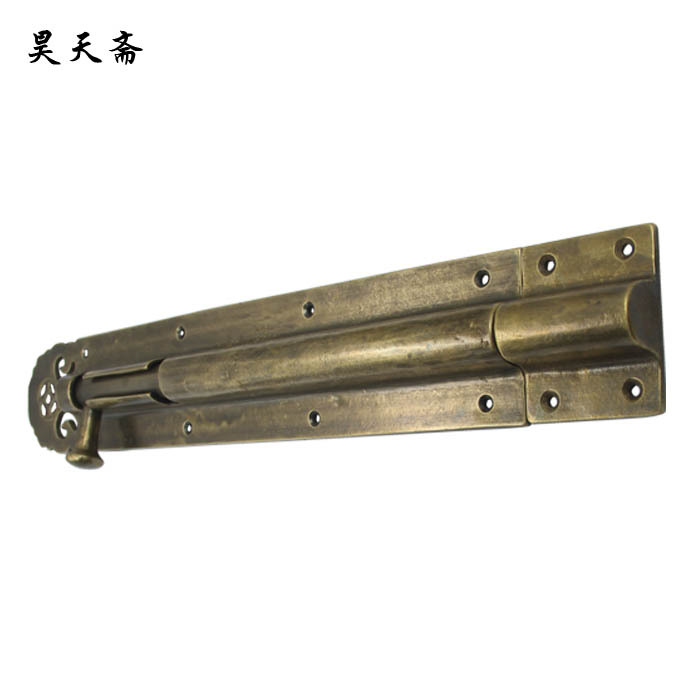 [Haotian vegetarian] Chinese antique copper door latch bolt the doors of classical HTH-141 inserted antique chinese antique furniture copper fittings metal door latch bolt windows