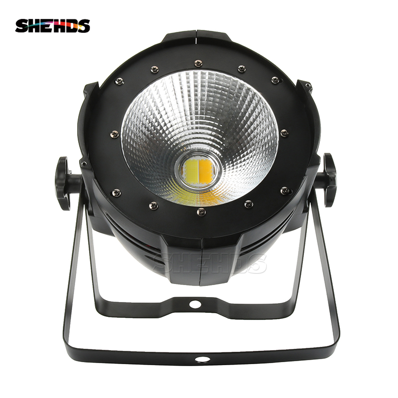SHEHDS Aluminum Alloy LED Par 200W COB Warm White Cold White 2in1 Stage Lighting LED Par Dj Light DMX Controll цена