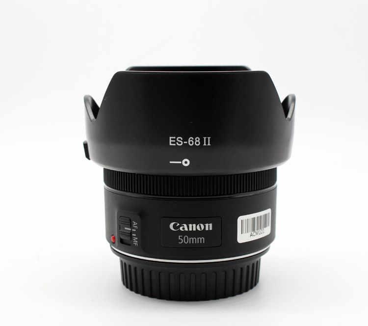 ES-68II ES 68 II ES-68II lente capucha Reversible 49mm Cámara accesorios de lentes para Canon EF 50mm f/1,8 STM