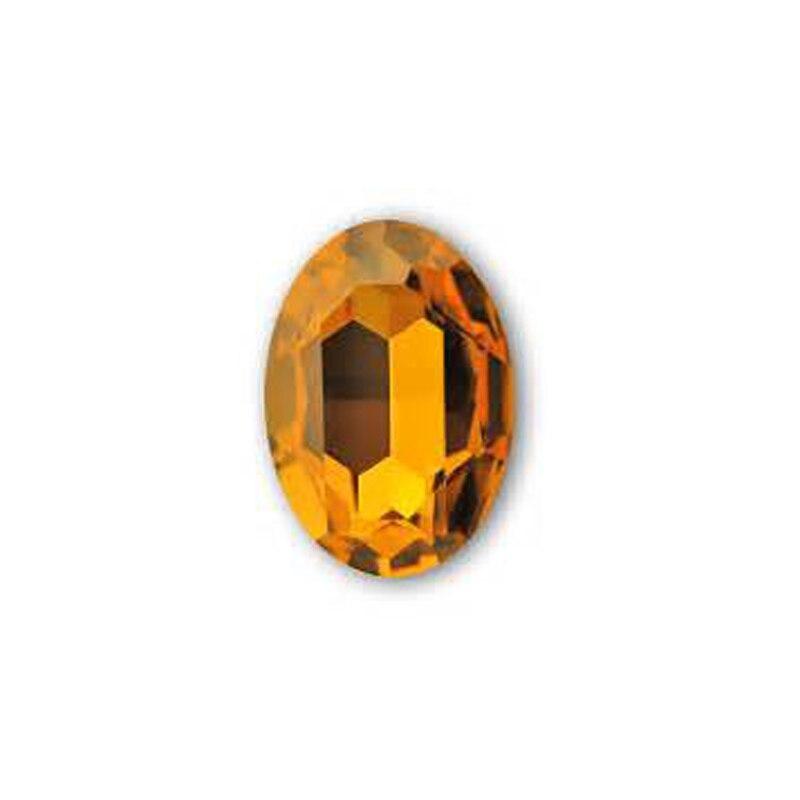 #4120 10*14mm 13*18mm 18*25mm Lt.Topaz Shiny Strass Loose Rhinestone Oval Shape Pointback Crystal Fancy Stones Top Quality