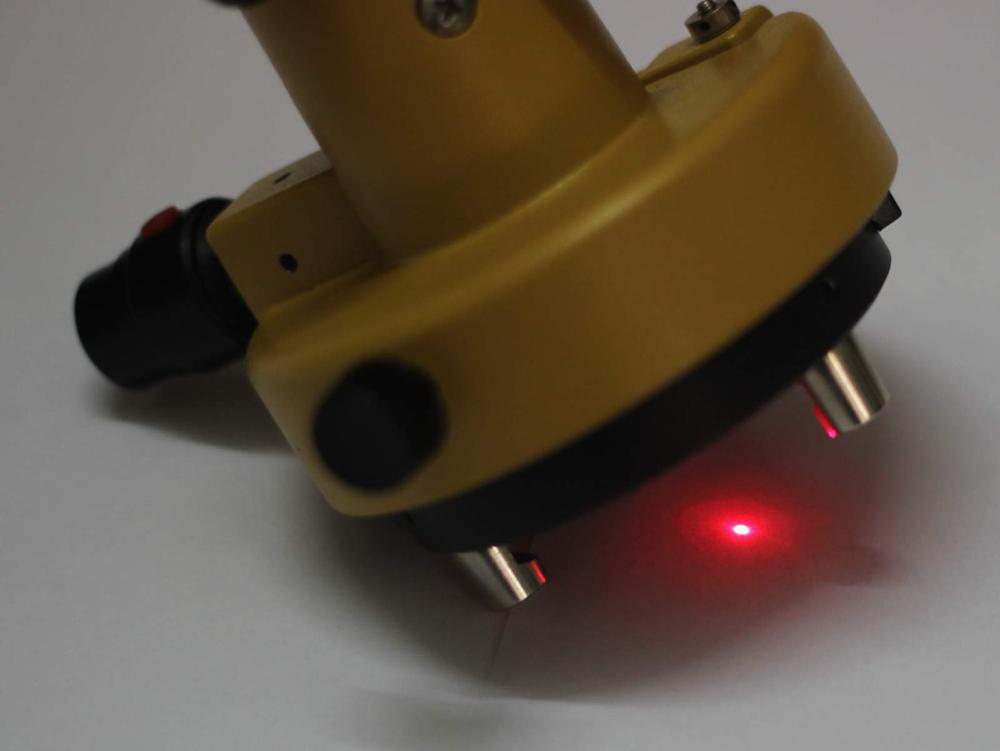 NOVO Adaptador Base Nivelante Prumo LASER Transportadora Para Estação Total Do Laser Amarelo