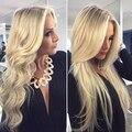 100% brasileiro virgem de cabelo 613 cabelo humano loira cheia do laço perucas sem cola onda do corpo / reta completa perucas com nós branqueada