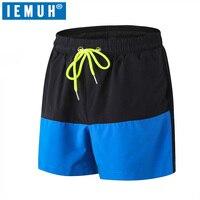 IEMUH Топ бренд шорты мужские Шорты повседневные пляжные шорты Мужская одежда эластичная талия до колена карманы сетка дышащие шорты