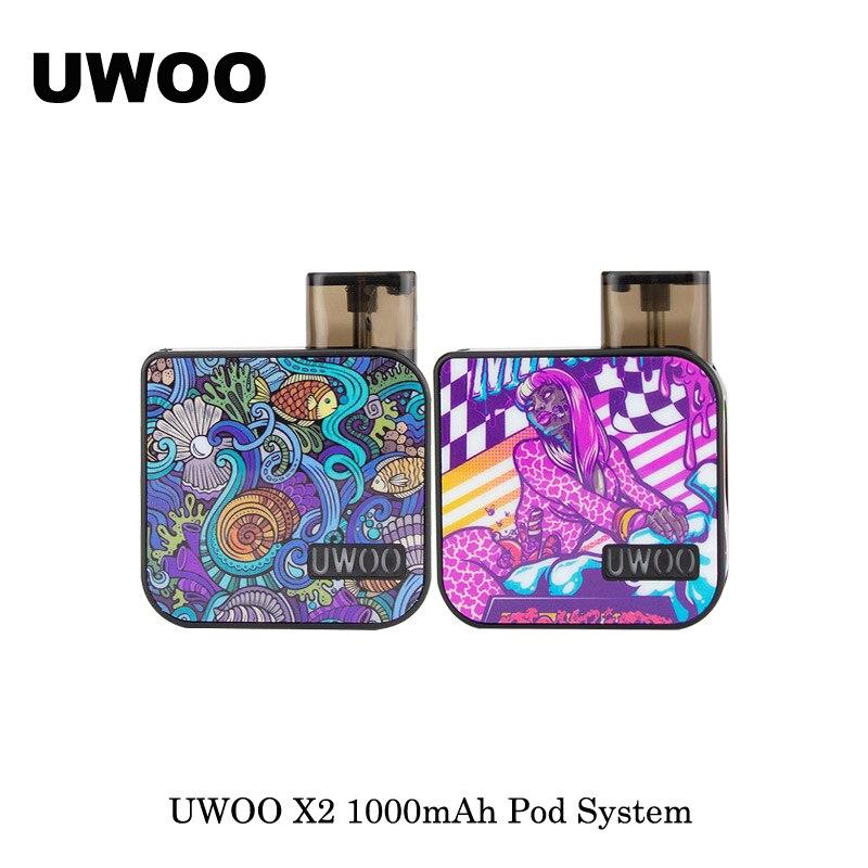 electronic cigarettes UWOO X2 1000mAh Pod System Kit Refillable Pod 2ml Capacity With Creamic 1.1ohm Coil VS Lost Vape Orion Pod