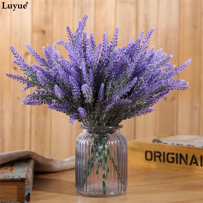 Luyue 6pcs Lot Artificial Lavender Flower Wedding Flowers Simulation Gift Home Party Garden Decorative In Dried