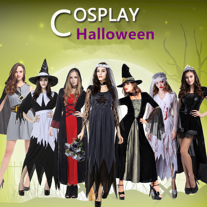 Halloween adult female switch devil superman princess vampire scary cartoon cosplay pirate clothing clothes costume costumes