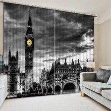 Customized size Luxury Blackout 3D Window Curtains For Living Room night view curtains Blackout curtain morden bookself 3d curtains luxury blackout curtain 3d window curtains for living room bedroom customized size
