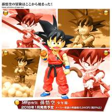 SHF Dragon Ball Z Son Goku Jovem BJD Voando Nimbus Action Figure Modelo Brinquedos(China)