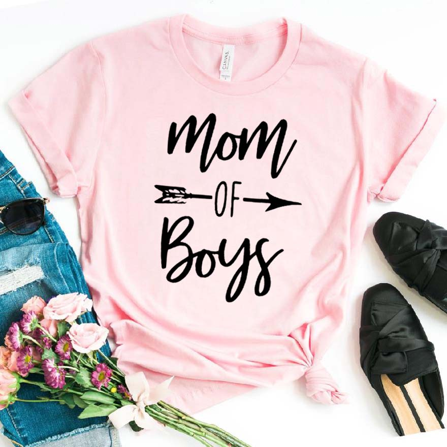 Mom of boys arrow Women tshirt Cotton Casual Funny t shirt For Lady Girl Top Tee Hipster Drop Ship NA-237