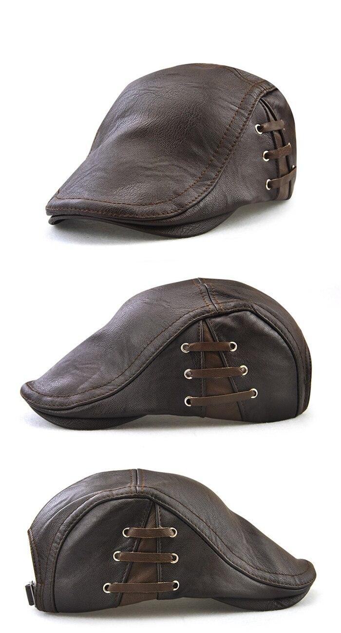 ... comprar un TOHUIYAN de vendedor de tapa para hombres invierno cálido  sombrero de la Boina caballero británico Boina 7df1f3f9e21