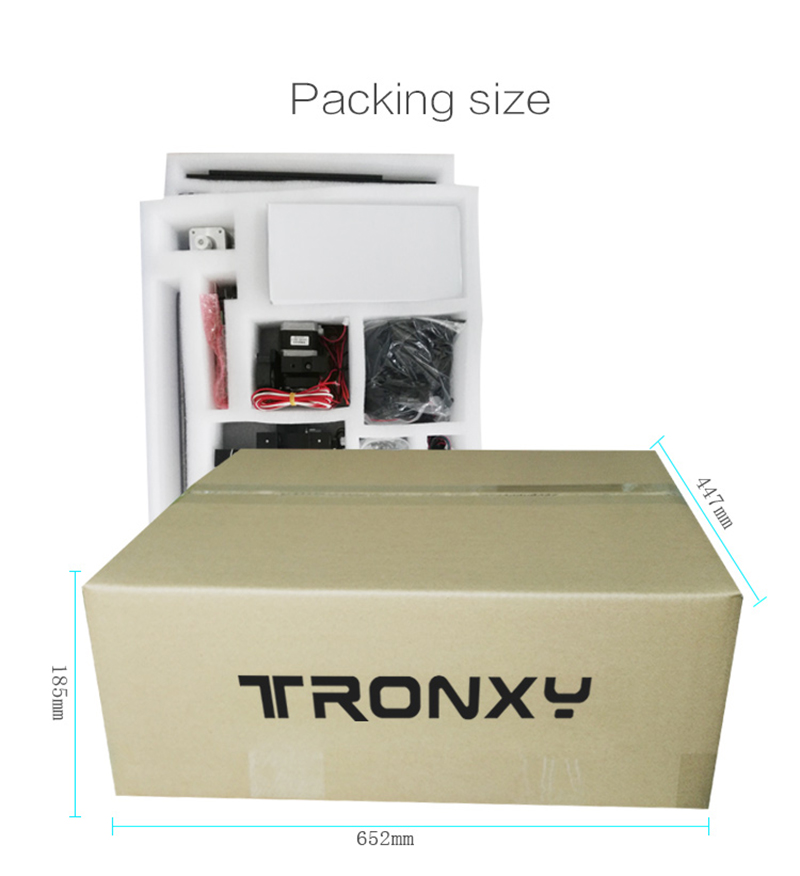 Upgrade Tronxy X5S 400*400*400mm 3D printer Kit Dual-Z axis High Precision  Aluminum Stable Printing Tronxy Large 3D printer DIY