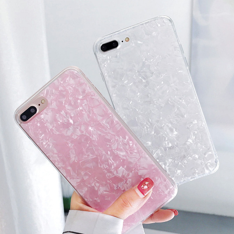 Glitter Seashell Dream Conch Shell Phone Cases For iPhone 11 Pro XS Max XR X 10 8 7 6s Plus 8Plus 7Plus Soft Silicone IMD Cover(China)