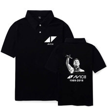 LUCKYFRIDAYF 2018 DJ Avicii R.I.P. Polo Shirts Men/Women Fitness Cotton Workout Summer Short Sleeve Polo Shirt Clothes Plus Size