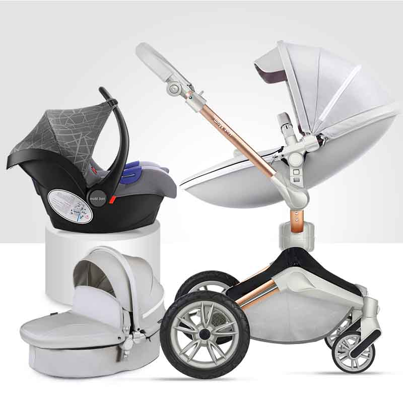 Hot mother 2018 new stroller high landscape can sit or lie on pneumatic wheel portable baby carts  baby stroller Free shipping стоимость