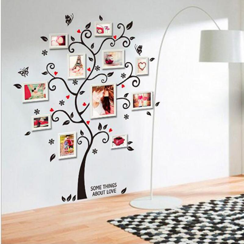 New fashion creative family tree frame decals wall art DIY children ...