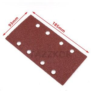 Image 2 - Square Sandpaper Grit Flocking Sand Paper Special Shaped Disc Abrasive Stone Glass Grinder For Wood Polish Tools 93x185mm 10pcs