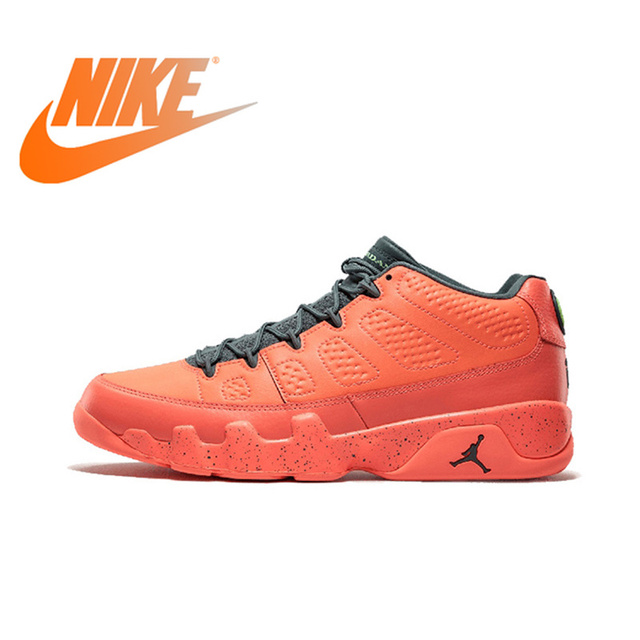 pretty nice d8ebc 5430f Original Official NIKE Air Jordan 9 Shiny Stockings Mango AJ9 Men s  Basketball Shoes Sneakers Culture Anti Slip Breathable