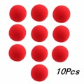 10PCs/lot High Quality 4.5cm New Fashion Close-Up Magic Sponge Ball Brand Street Classical Comedy Trick Soft Red Sponge Ball Toy