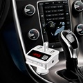 High Quality New BC12 Car Kit Handsfree Wireless Bluetooth FM Transmitter MP3 Player with three USB Chargering port