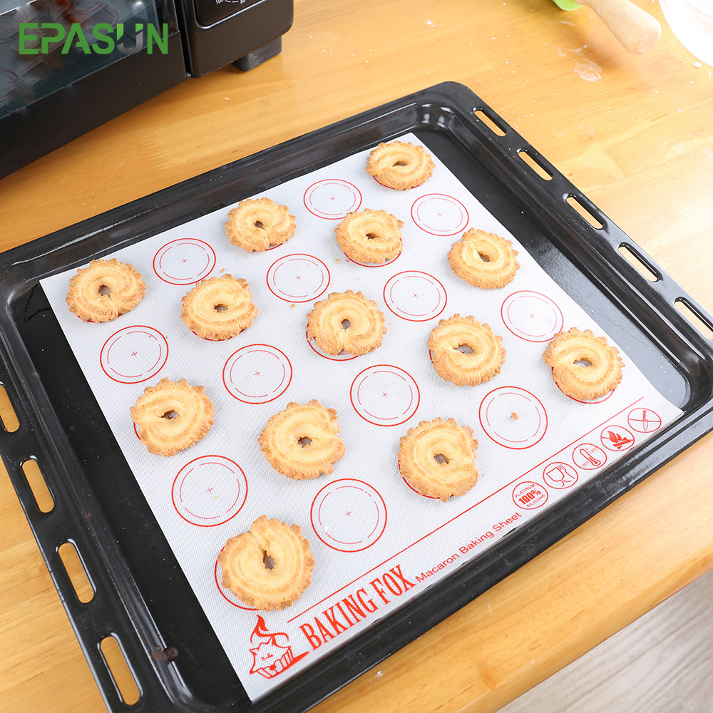 EPASUN Non Stick Round Circle Silicone Baking Mat for ...