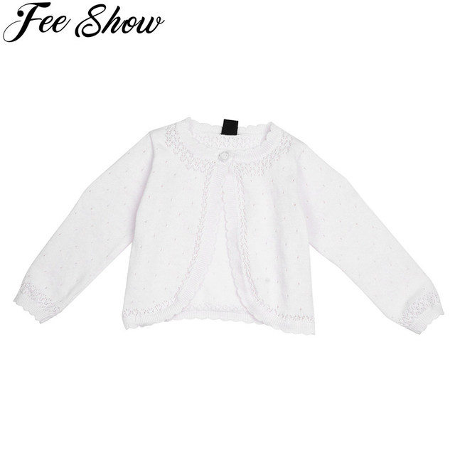 8a5a2bf31 White Newborn Cute Kids Girls Long Sleeve Lace Flower One Button ...