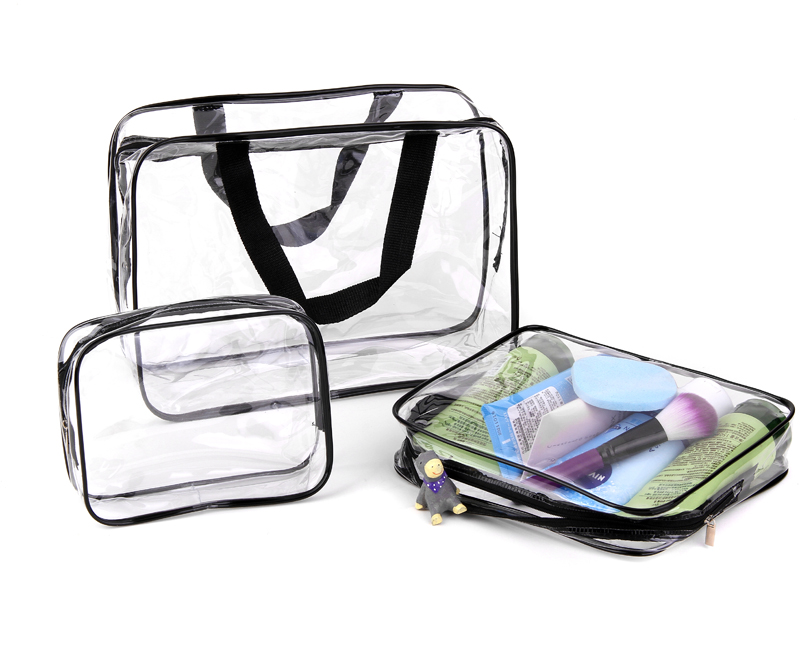 995072dc2860f0 Environmental Protection PVC Transparent Cosmetic Bag Women Travel Make up  Toiletry Bags Makeup Handbag Organizer Case-in Cosmetic Bags & Cases from  Luggage ...
