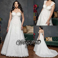 Vestido De Noiva Plus Size Detachable Straps Lace Bride Wedding Dress Plus Size Wedding Dresses Vestido Noiva Casamento 2015