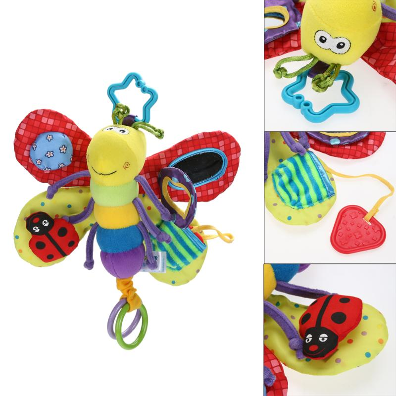Lovely Baby Toys Stroller/Bed Hanging Dragonfly Handbell Rattle/Mobile Teether Education Stuffed/Plush Kid Toys