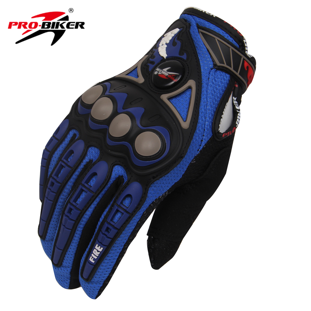 Motorcycle gloves thin - Pro Biker Full Finger Guantes Motorcycle Gloves Breathe Freely Wear Resisting Professional Racing Gloves Size M L Xl 4 Color