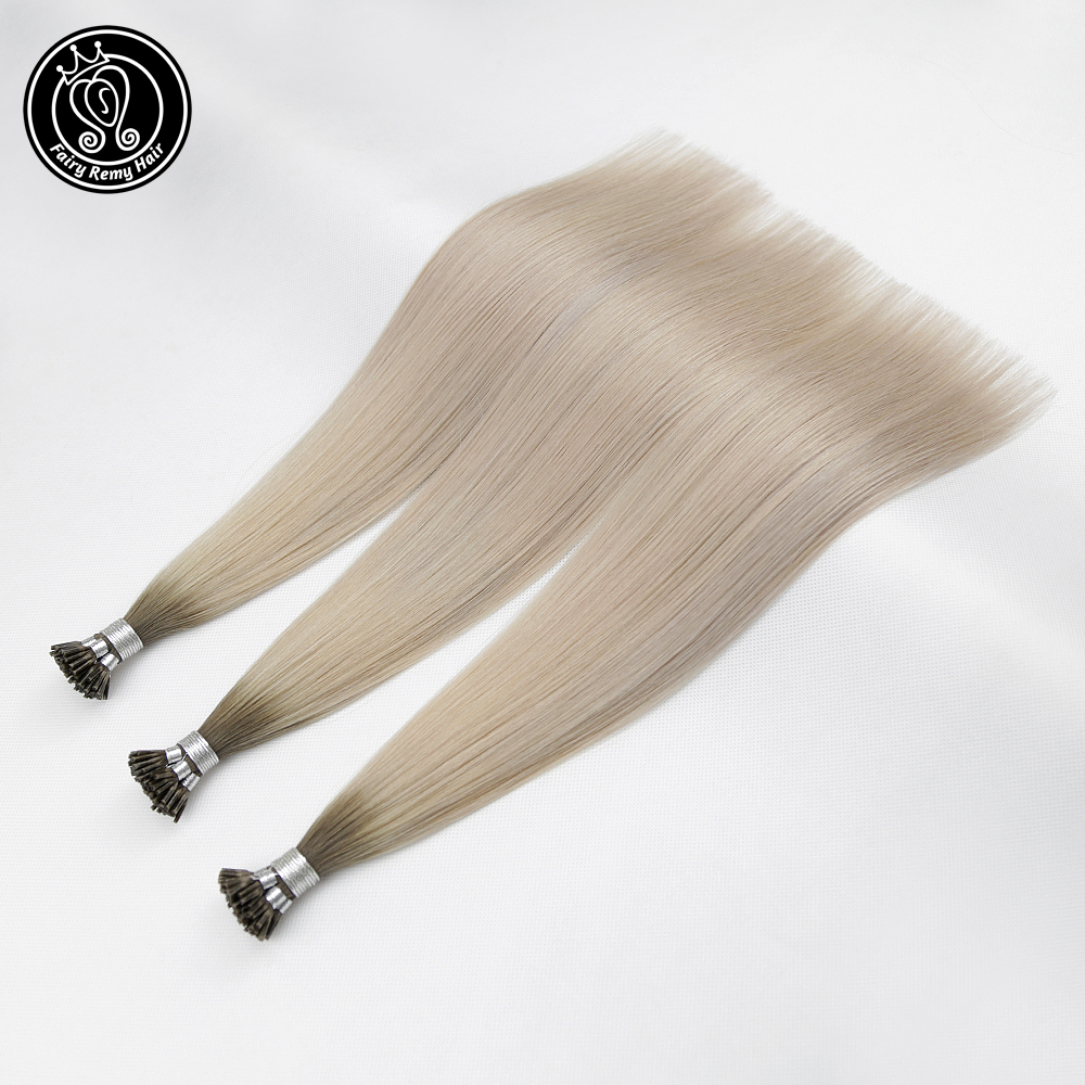 Fairy Remy Hair 0.8g/s 16 Inch Remy Keratin I Tip Hair Extensions Balayage European Human Hair Fusion Keratin Bonds Extension