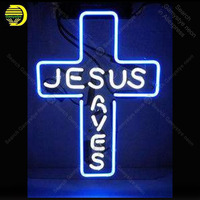 Neon Sign for jesus saves Neon Bulbs cross decor Love Display Beer Express shop Neon Light up wall Neon Signs for Room Letrero