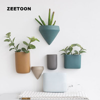 Modern Coarse Pottery Wall Vase Simple Ceramic flowerpot Succulent Plant Planters Wall mounted Decor Flower Pot Ornament Pendant