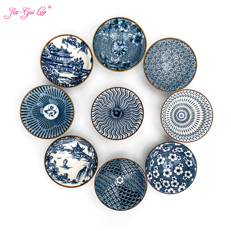 Jia-gui luo 1 pcs Chinese blue and white porcelain personal kung fu teacup kitchenware