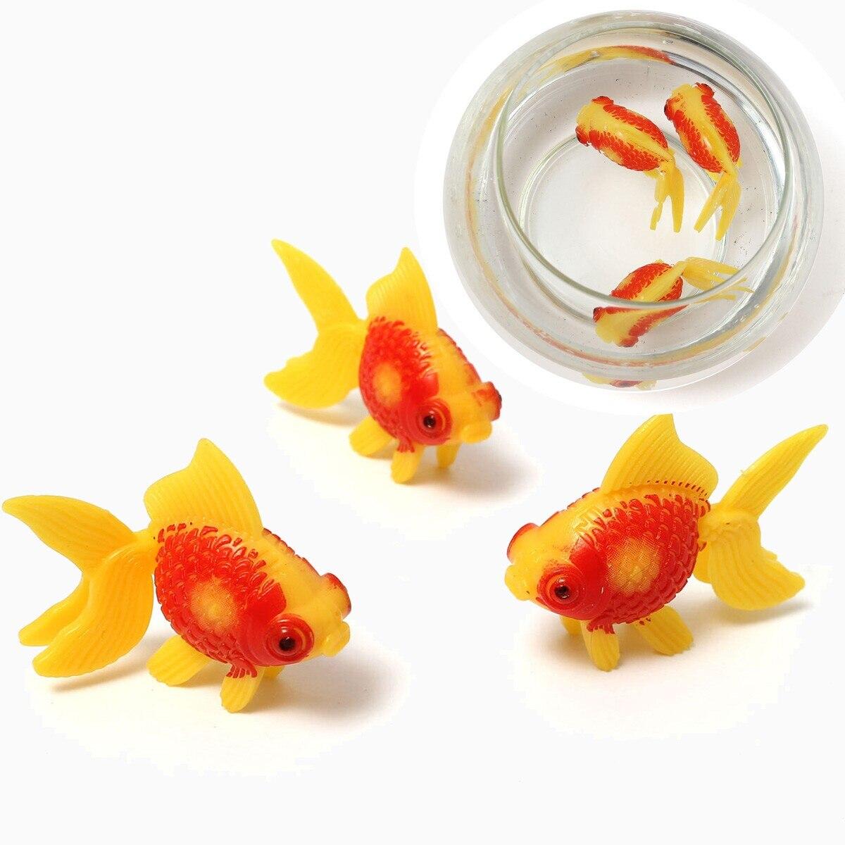 3PCS Plastic Swimming Home Decoration Fish Gold Fishes Tank Home Aquarium Decoration Fish Tank Ornament Decor Kids Fishing Toys