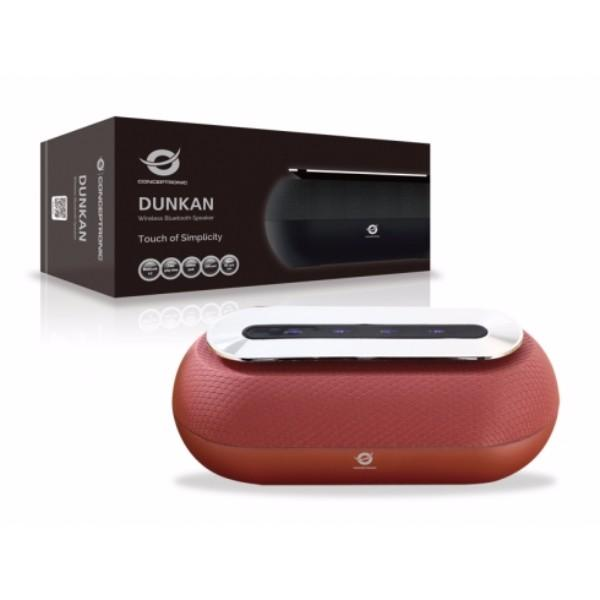 Conceptronic Speaker Bluetooth Dunkan Color Red Reproduced Mp3 From USB/microSD Radio FM Handsfree 10 W