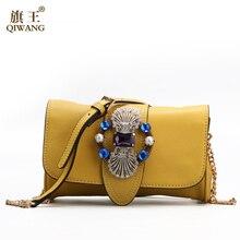 Yellow Genuine Leather Bag Luxury Famous Brands Women Handbags Designer 2017 Bags Summer Butterfly Flap Clutch Shoulder Bag
