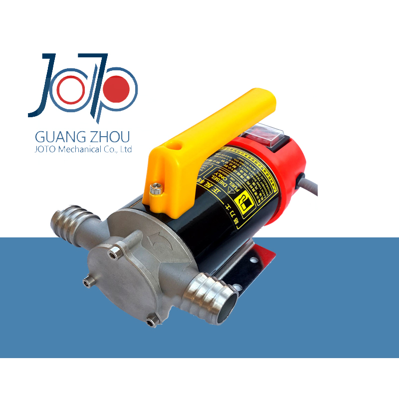 24V Dual-Purpose Inlet Electric Self-priming Diesel Refuel Oil Pump With Extended 4m Power Line For Constructional Machinery  12v dual purpose inlet electric self priming diesel oil refuel oil pump with standard 2m power line and 8m oil tube