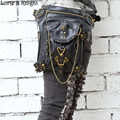 Women/Men Vintage Retro Rock Leather Messenger Bag Steampunk Motorcycle Leg Thigh Hip Holster Waist Belt Packs
