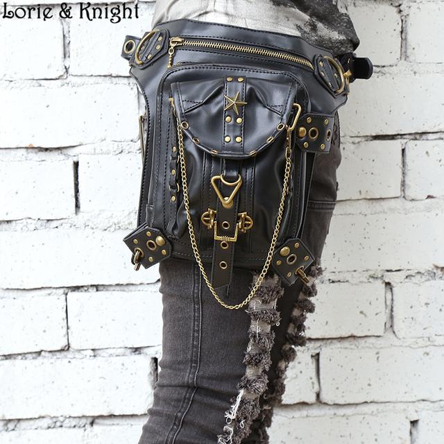 Women/Men Vintage Retro Rock Leather Messenger Bag